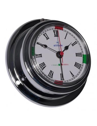 Quartz Klok - Chroom - 95 mm - Radiostilte & Alarm - Altitude - Scheepsinstrumenten - 843 CAZ - €65,00