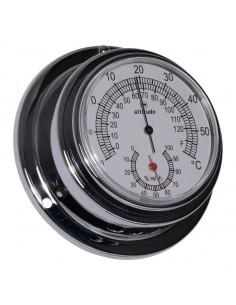 Thermometer Hygrometer - Chroom - 95 mm