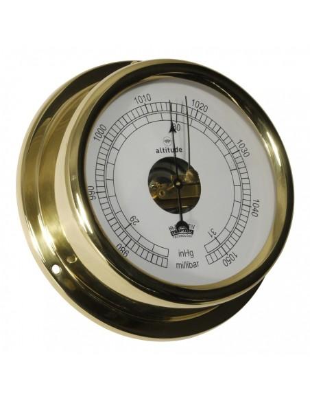 <p>Elegante barometer met duidelijke afleesbare wijzerplaat! Het glas van de barometer is gemaakt van acryl glas en messing met prachtige glans dat komt omdat de klokken worden gepolijst en gelakt. De barometer behoord tot het merk Altitude en bevat 3 jaar garantie vanaf de aankoopdatum. <br /><strong>Afmetingen:</strong> 150 mm doorsnede / 42 mm diepte <strong>Materiaal:</strong> messing / acryl glas (pmma)</p>