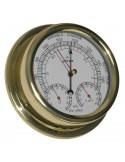 <p>Ideaal voor de vaart! Een barometer, thermometer en hygrometer inéén scheepsklok! De behuizing is gemaakt van hoge kwaliteit messing en acrylglas (pmma) en heeft maar liefst 3 jaar garantie vanaf de aankoopdatum. Dit gecombineerde scheepsinstrument hoort tot het bekende merk Altitude wat is opgericht in 1955. <br /><strong>Afmetingen:</strong> 150 mm doorsnede / 42 mm diepte <strong>Materiaal:</strong> messing / acryl glas (pmma)</p>