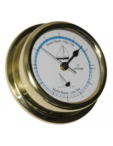<p>Het merk Altitude heeft deze prachtige getijdenklok in zijn collectie en de klok is geproduceerd door Delite in Denemarken! De getijdenklok bevat een behuizing van messing en acryl glas en heeft 3 jaar garantie vanaf de aankoopdatum! Deze prachtige getijdenklok is een plaatje en hoort bij jou aan de muur aan boord! <br /><strong>Afmetingen:</strong> 150 mm doorsnede / 42 mm diepte <strong>Materiaal:</strong> messing / acryl glas (pmma)</p>