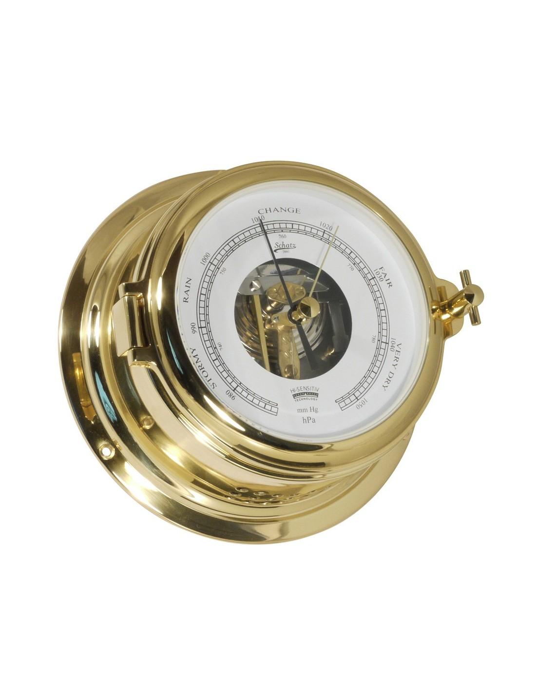 Midi 155 - Barometer - Open Wijzerplaat - Messing - Schatz 1881 - Scheepsinstrumenten - 450 BO