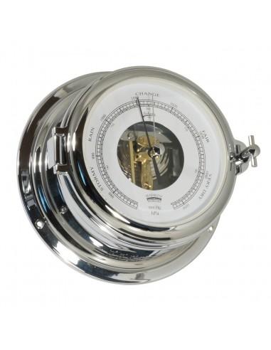 Midi 155 - Barometer - Open Wijzerplaat - Verchroomd - Schatz 1881 - Scheepsinstrumenten - 453 BO - €379,00