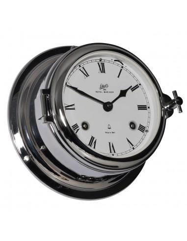 Royal 180 - Mechanische Klok - Glazen Slaand - Romeins - Verchroomd - Schatz 1881 - Scheepsinstrumenten - 483 CM - 1,075.00