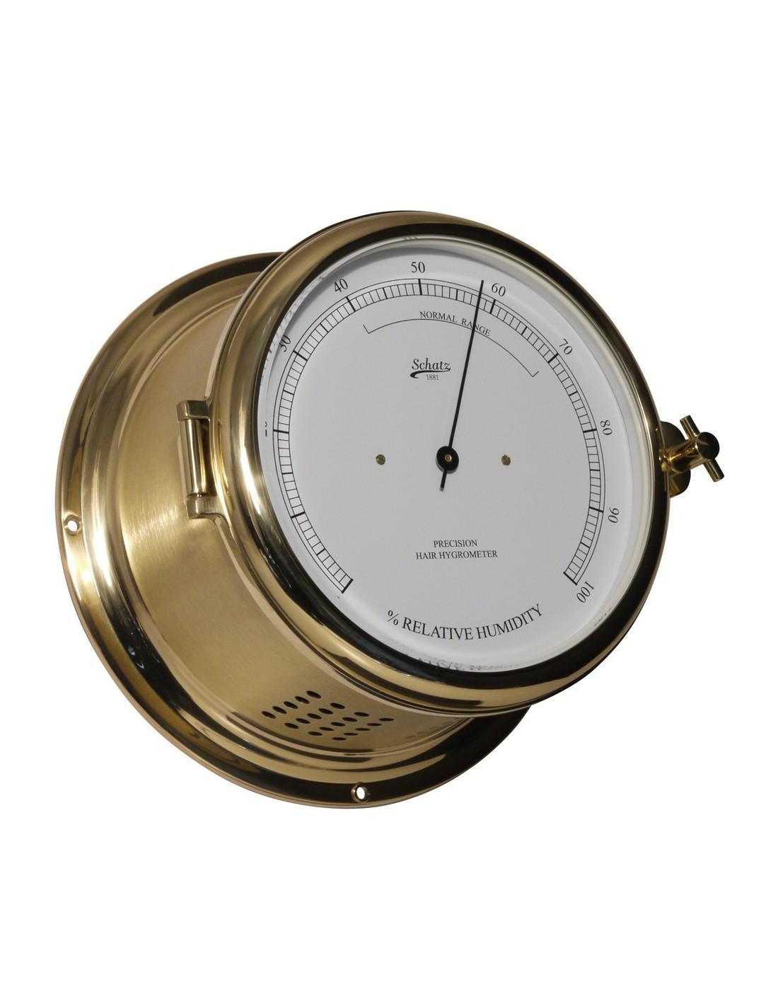 Royal 180 - Haarhygrometer - Mat Messing - Schatz 1881 - Scheepsinstrumenten - 481 H