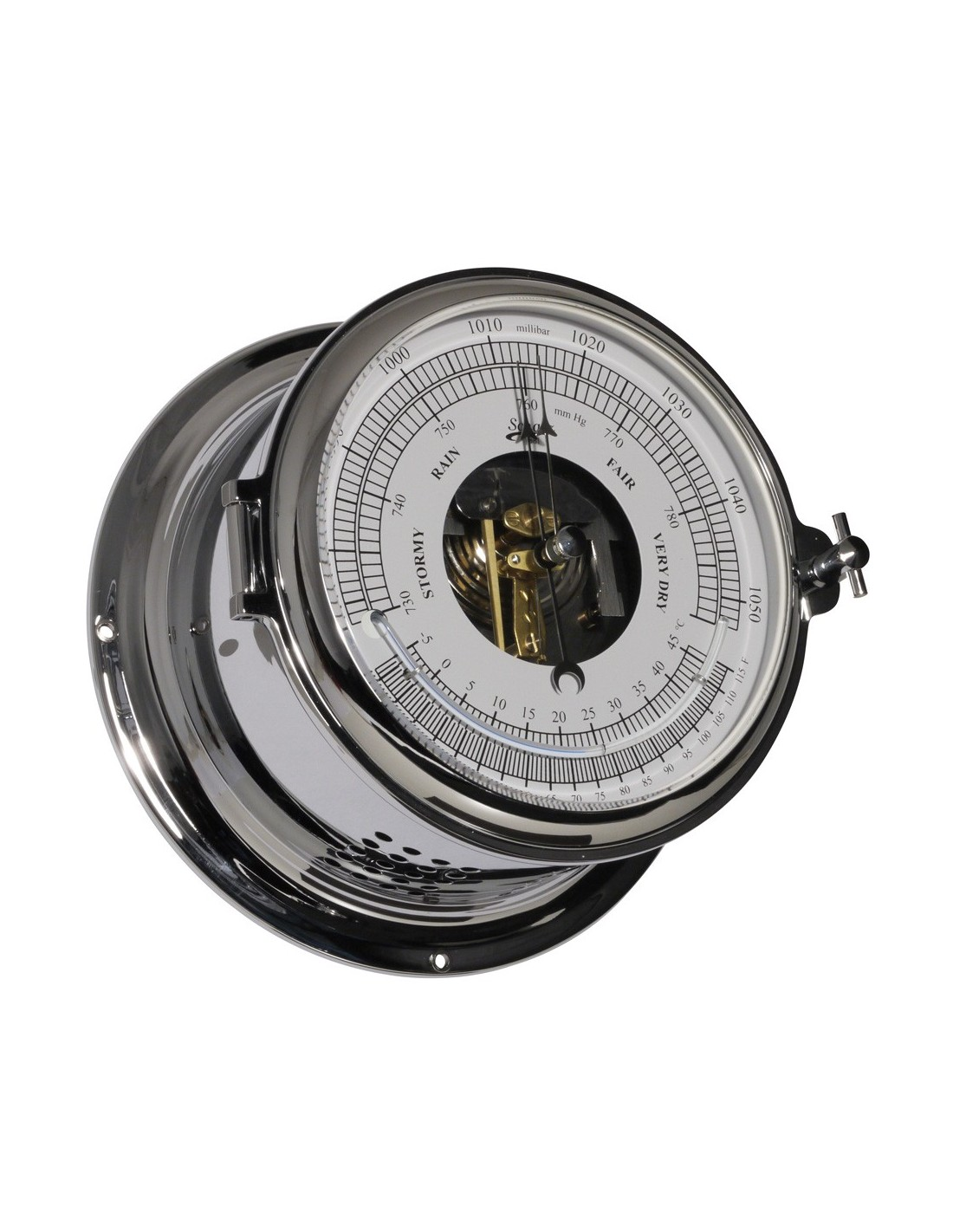 Royal 180 - Barometer / Thermometer - Verchroomd