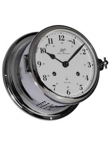 Royal 180 - Mechanische Klok - Glazen Slaand - Arabisch - Verchroomd - Schatz 1881 - Scheepsinstrumenten - 483 CMA - 1,075.00