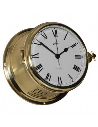 Royal 180 - Quartz Klok - Glazen Slaand - Romeins - Mat Messing - Schatz 1881 - Scheepsinstrumenten - 481 CS - €445,00