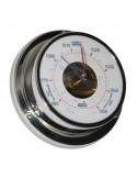 <p>Deze Vion barometer is een luchtdrukmeter met een high-sensitivity techniek, de beweging van de barometer wijzer wordt 1,5 maal vergroot ten opzichte van de beweging van een conventionele barometer. De barometer is met behulp van de wandbevestiging is dit scheepsinstrument gemakkelijk te plaatsen. <br /><strong>Afmetingen:</strong> 97 mm doorsnede / 32 mm diepte <strong>Materiaal:</strong> glanzend rvs<br /><br /><br /></p>