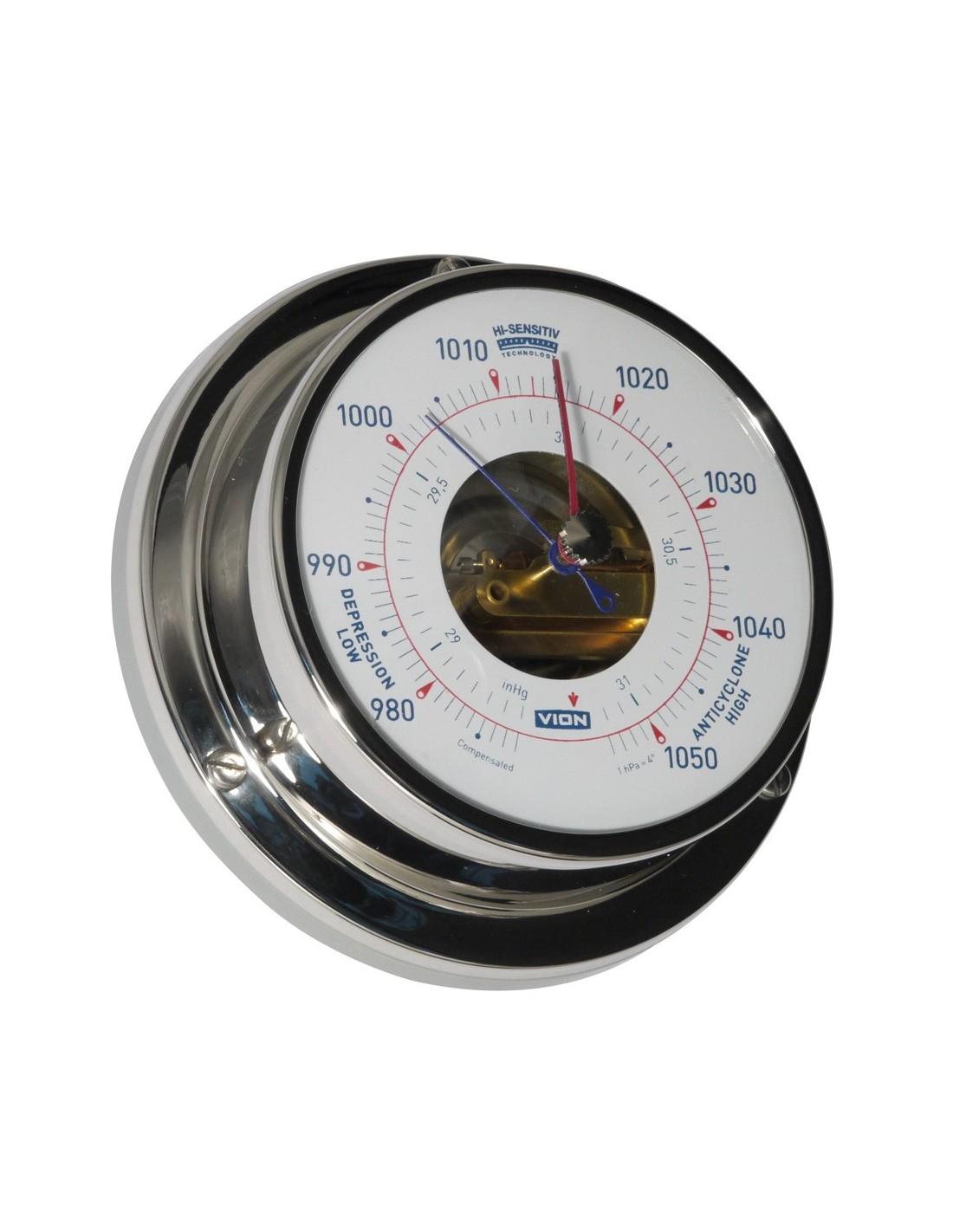 Barometer - Glanzend RVS - 97 mm - VION - Scheepsinstrumenten - A080 B