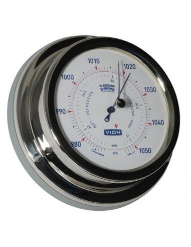 Barometer - Glanzend RVS - 129 mm - VION - Scheepsinstrumenten - A100 B - €95,00
