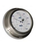 <p>Zeer stijlvolle barometer met duidelijke wijzerplaat! De barometer is uitgevoerd met high-sensitivity en is zeer nauwkeurig uit te lezen wel ±3hPa millibar! Deze barometer behoord tot het merk Vion en heeft een garantie periode van maar liefst 3 jaar vanaf de aankoopdatum. <br /><strong>Afmetingen:</strong> 129 mm doorsnede /40 mm diepte <strong>Materiaal:</strong> geborsteld rvs / acryl glas</p>