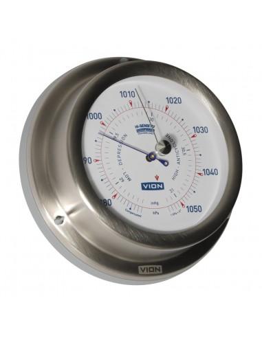 Barometer - Geborsteld RVS - 129 mm - VION - Scheepsinstrumenten - A102 B - €95,00