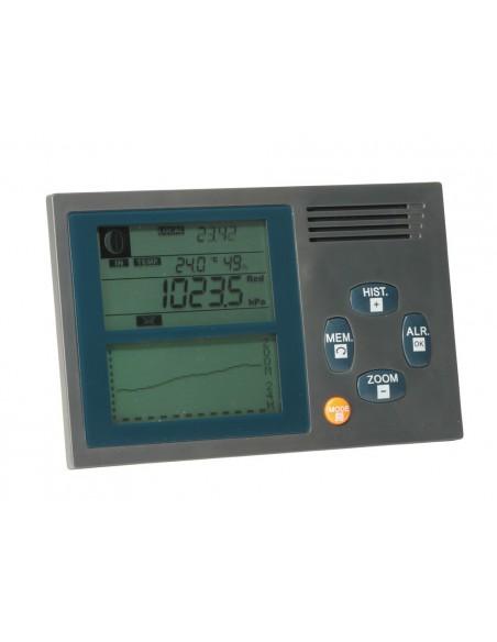 <p>Deze elektronischeVion Marine barometeris voorzien van een barometer, thermometer, hygrometer en tevensis de tijd af te lezen! De moderne weerstation is gemakkelijk overal neer te zetten of op te hangen door de meegeleverde wandbevestiging.<br /><br /></p>