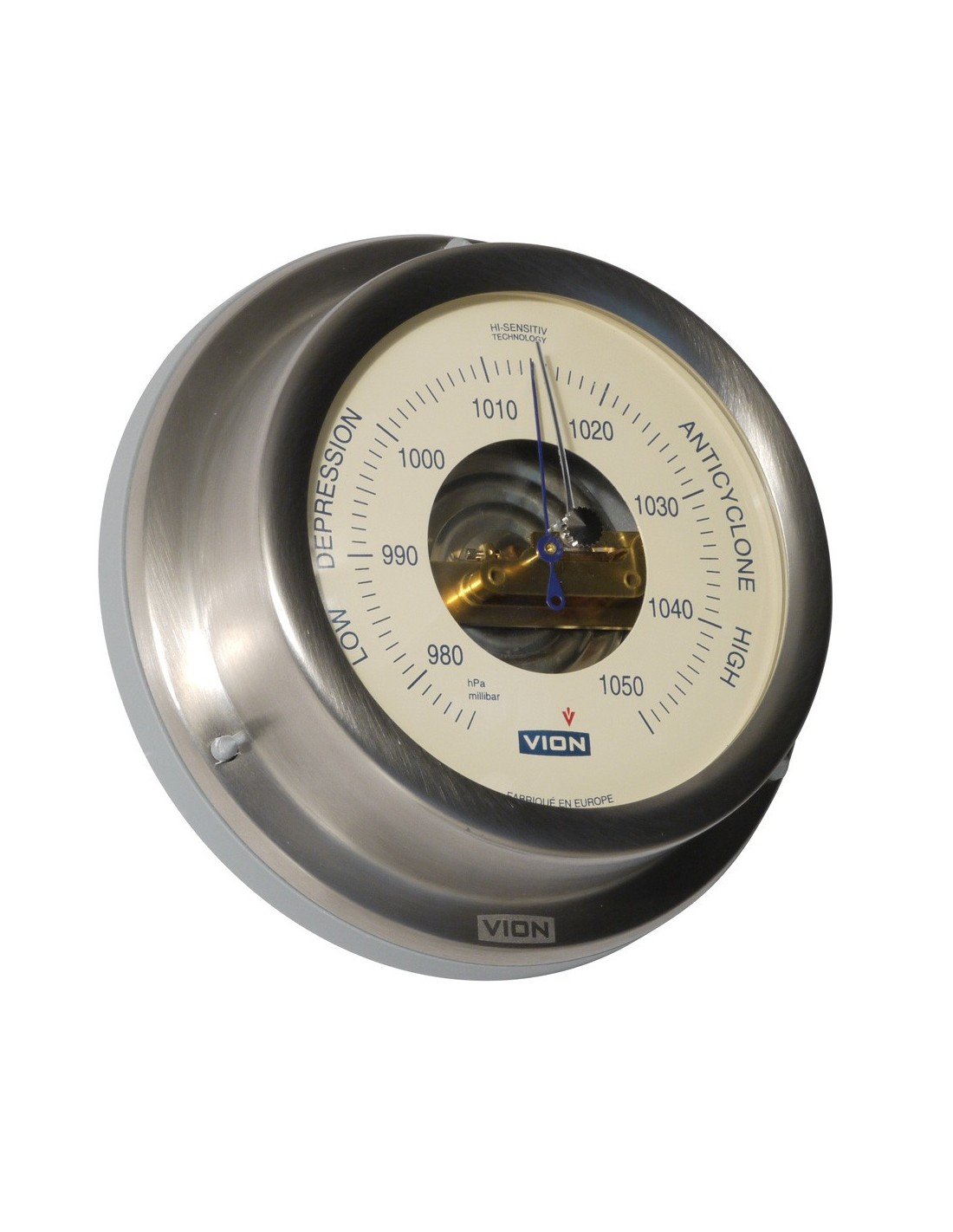 Barometer - Geborsteld RVS - 129 mm