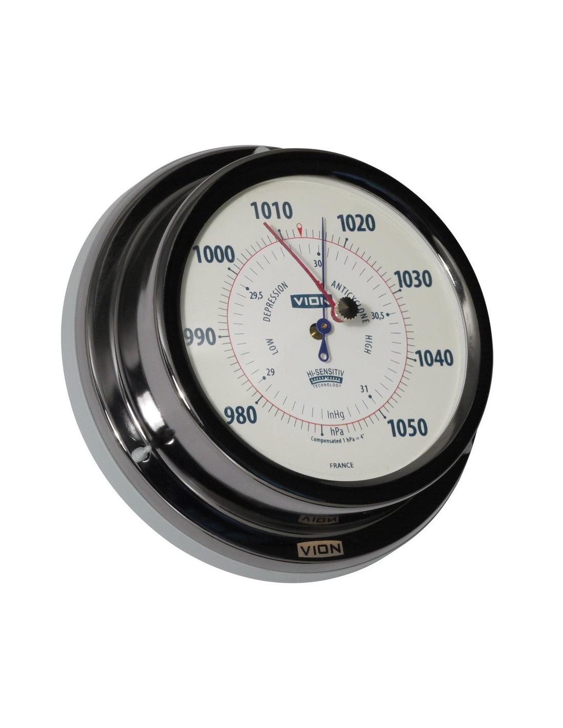 Barometer - Titanium Gekleurd - 129 mm