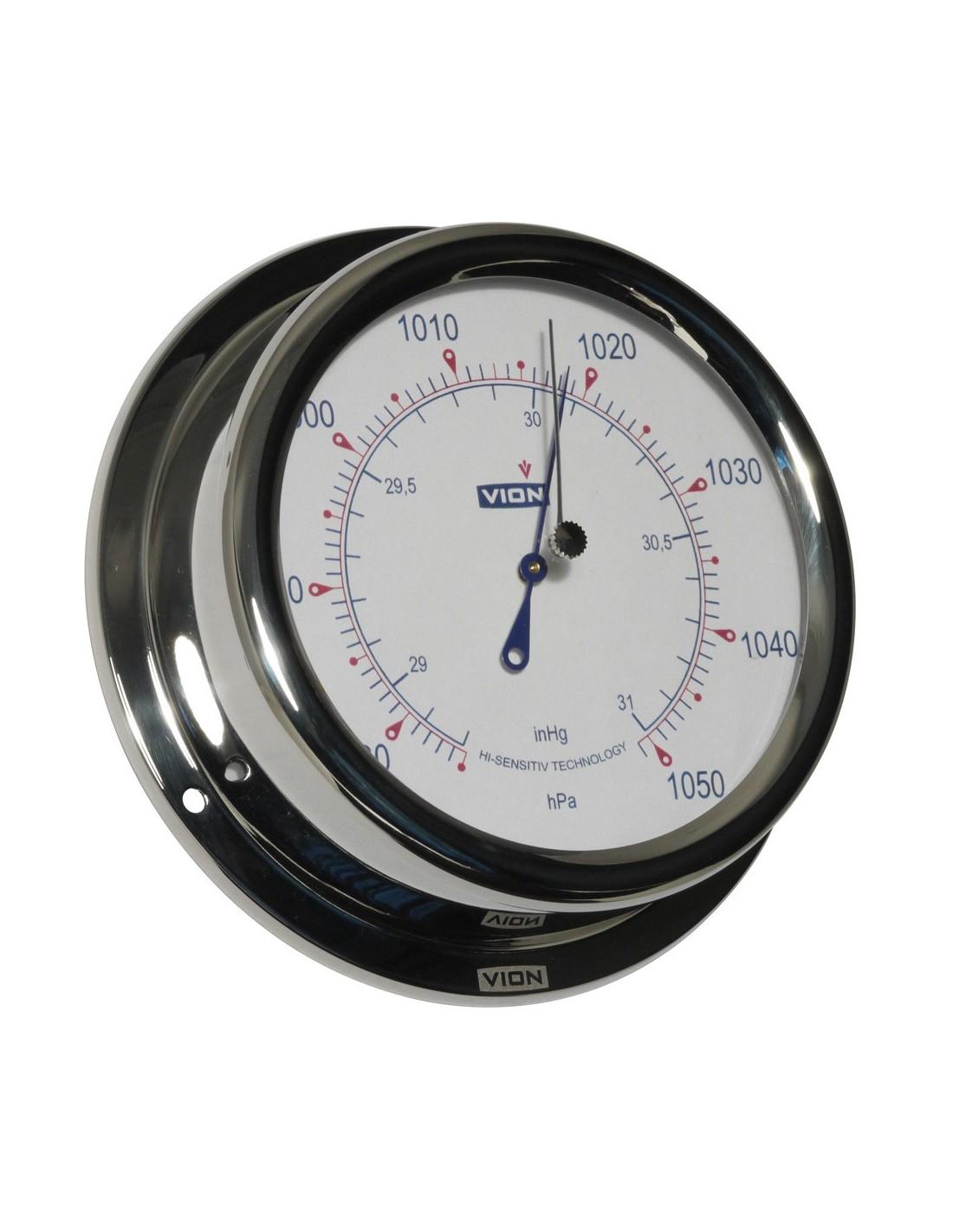 Barometer - Glanzend RVS - 150 mm