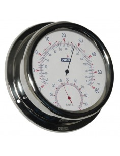Thermometer / Hygrometer - Glanzend RVS - 150 mm