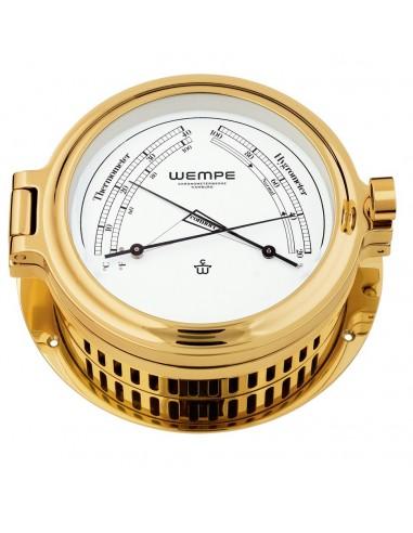 CUP - Thermometer / Hygrometer - Messing - 140 x 47 mm - Wempe - Scheepsinstrumenten - CW140003 - €344,00