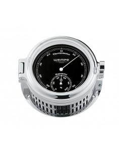 REGATTA - Thermometer / Hygrometer - Verchroomd - Zwart / Wit - 140 x 47 mm