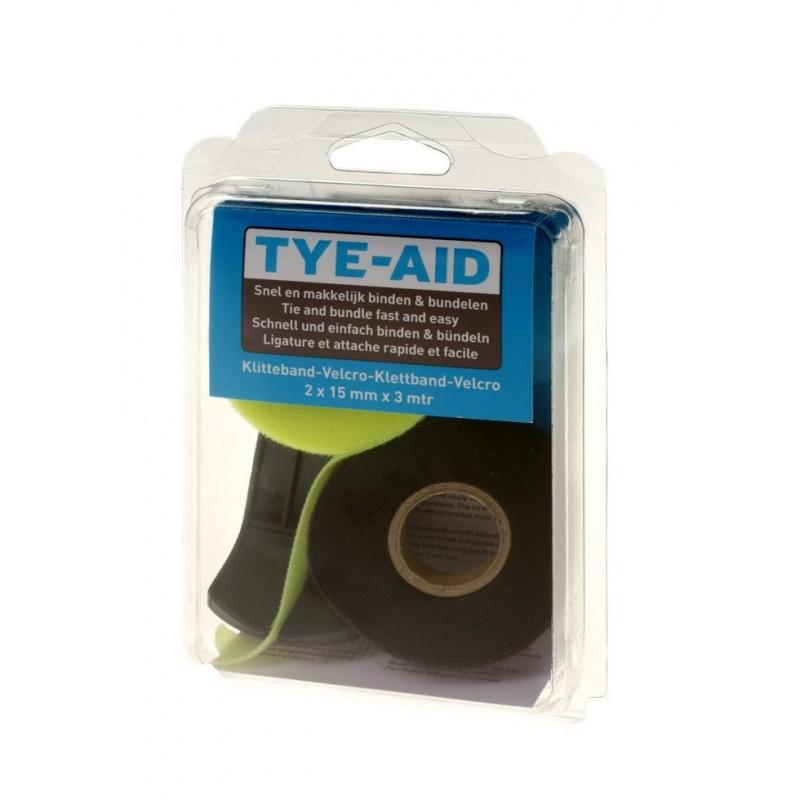 Tye-Aid - Hersluitbaar Bindband Op Dispencer - 2x Rol - 1.5 x 300 cm - Tye-Aid - Reparatie - 090010TY - €15,25