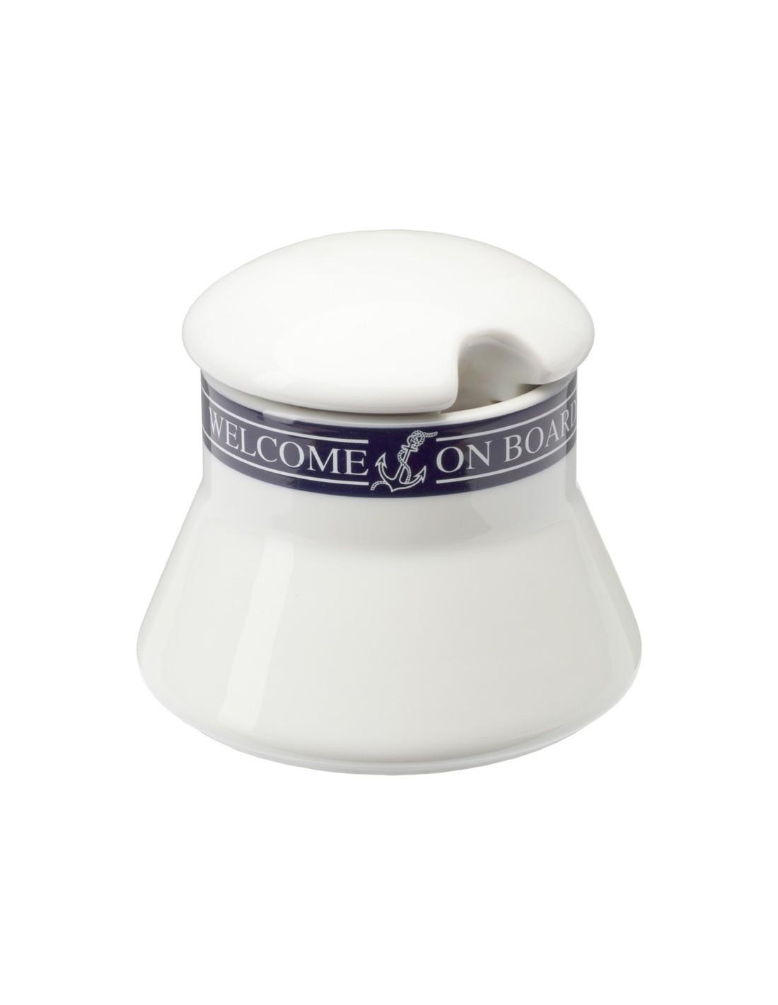 Suikerpot Met Deksel - Welcome On Board - Scheepsserviesgoed - 10019817