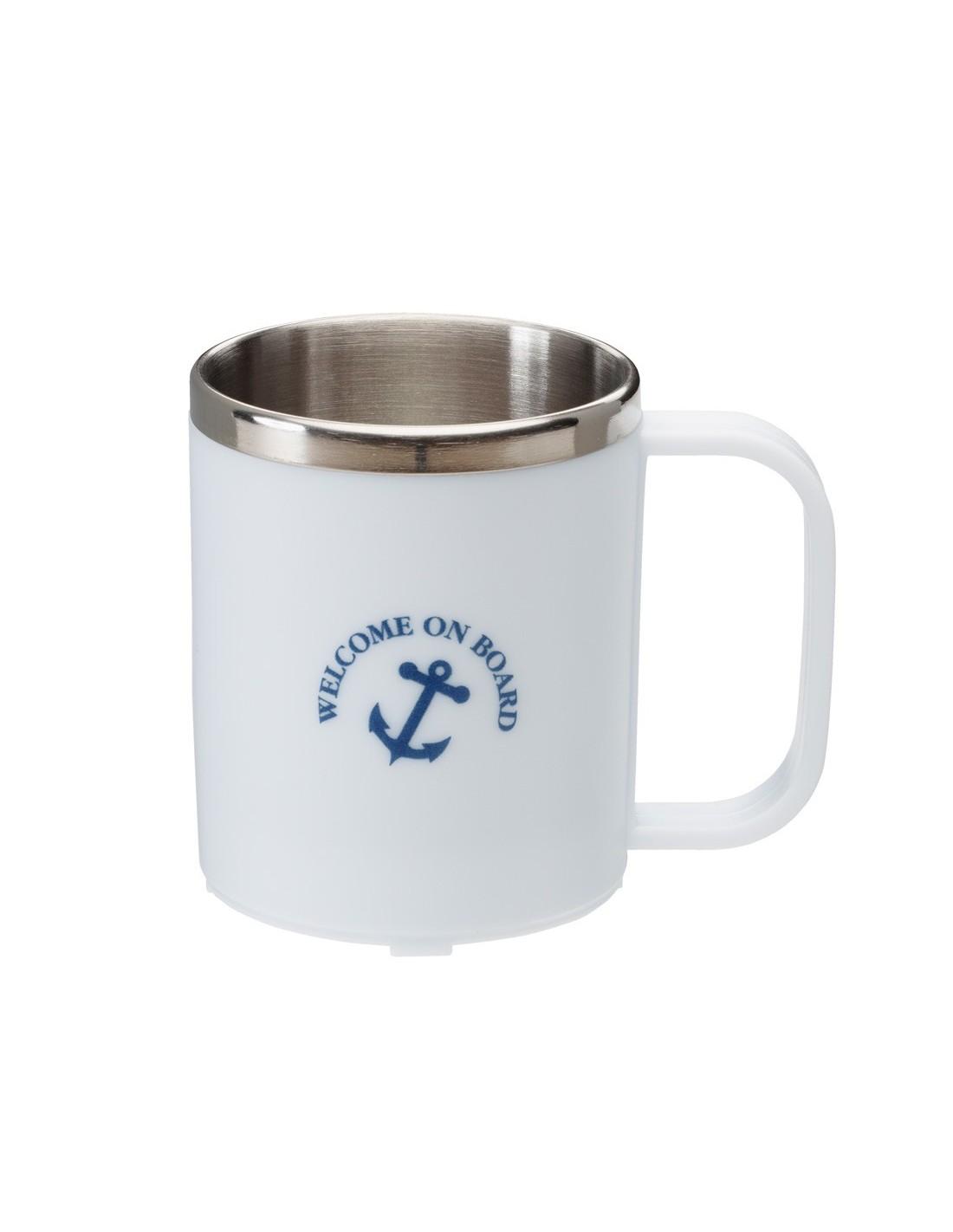 Koffiebeker - RVS Binnenzijde - Wit
