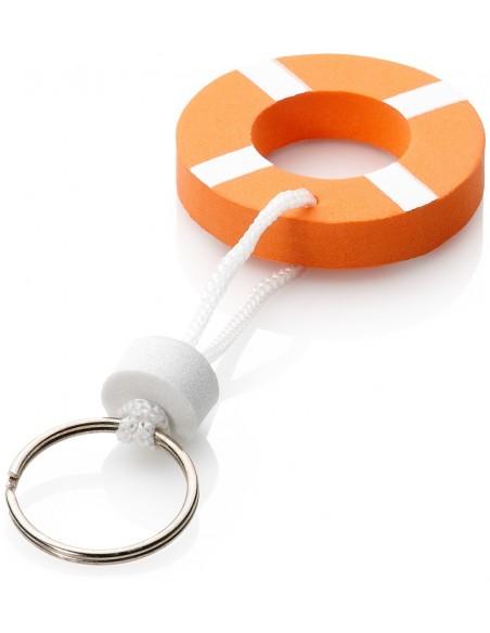 <p>Deze sleutelhanger van The Captain's Collection ziet er niet alleen erg leuk uit, hij is ook erg handig want deze blijft drijven als je je sleutels per ongeluk in het water laat vallen. De drijvende sleutelhanger kan ongeveer een gewicht dragen van 15 gram in het water en is gemaakt van foam. Deze wordt geleverd per 10 stuks en verpakt in een polybag. <br /><strong>Kleur:</strong> oranje / wit</p>