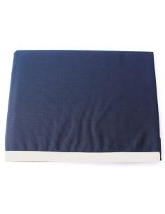 Waterproof - Tafelkleed - Blauw Met Witte Rand - Klein - 115 x 100 cm