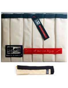 Waterproof - Placemats - Ecru Met Blauwe Rand - 6 Stuks - Marine Business - Textiel - 22511