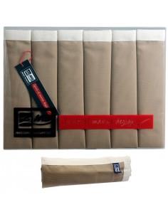Waterproof - Placemats - Beige Met Ecru Rand - 6 Stuks