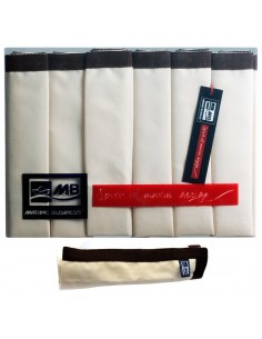 Waterproof - Placemats - Ecru Met Bruine Rand - 6 Stuks - Marine Business - Textiel - 22531